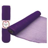 48 Units of Tulle fabric roll purple