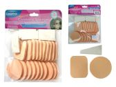 96 Units of 25pc Cosmetic Makeup Applicator Sponges - Cosmetics