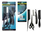 144 Units of 5 Pc Barber & Hair Cut Set - Hair Accessories