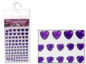 288 Units of Heart-Shaped Rhinestone Stickers - Stickers