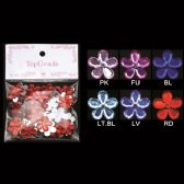 96 Units of Rhinestone Sticker Flowers - Scrapbook Supplies