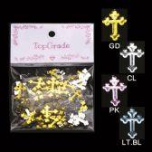 96 Units of Rhinestone Craft Cross - Scrapbook Supplies
