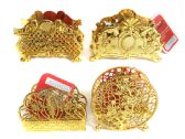 144 Units of Gold Colored Napkin Holder