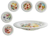 96 Units of Round Printed Tray - Serving Platters