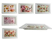 96 Units of Rectangular Printed Tray - Serving Platters