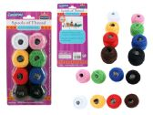 96 Units of 8 Pc Thread, Asst Colors - SEWING THREAD