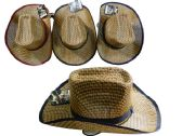 30 Units of Cutting Men's Straw Hat With Chin Strap - Cutting Boards