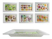 48 Units of Rectangular Printed Tray - Serving Platters
