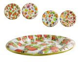 48 Units of Round Printed Tray - Serving Platters