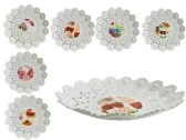 60 Units of Printed Round Bowl - Serving Platters