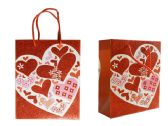 144 Units of Small Heart Gift Bag