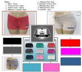 72 Units of Ladies 100% Cotton Shorts With Side Print Logo