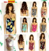 48 Units of Ladies 1 Piece Bathing Suit Swim Wear -Printed Floral and Tropical Prints