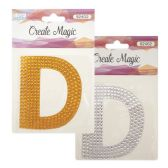 "96 Units of Crystal sticker ""D"" - Stickers"