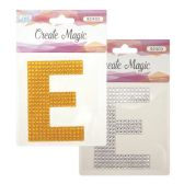 "96 Units of Crystal sticker ""E"" - Stickers"