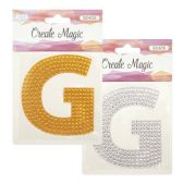 "96 Units of Crystal sticker ""G"" - Stickers"