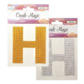 "96 Units of Crystal sticker ""H"" - Stickers"