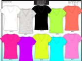 72 Units of Womens V Neck Soft Touch T Shirts - Womens Active Wear