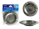 144 Units of 2pc Round Ashtrays - Ashtrays(Plastic/Glass)