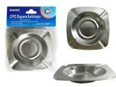 144 Units of 2pc Square Ashtrays - Ashtrays(Plastic/Glass)