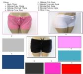 72 Units of Womens Cotton Shorts 100% Cotton Assorted Colors - Womens Shorts