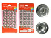 288 Units of 35pc Silver Snap Fasteners - Fasteners