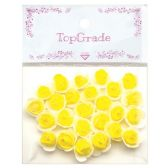96 Units of Foam Craft Flowers in Yellow - Artificial Flowers