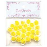 48 Units of Foam Craft Flowers in Yellow - Scrapbook Supplies