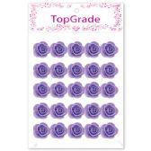 48 Units of Foam Craft Flowers in Purple - Scrapbook Supplies