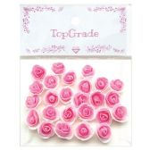 96 Units of Top Grade Pink Craft Flowers - Artificial Flowers