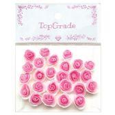 48 Units of Top Grade Pink Craft Flowers - Scrapbook Supplies