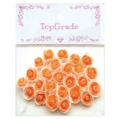 48 Units of Foam Craft Flowers in Orange - Scrapbook Supplies