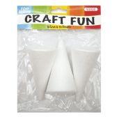 144 Units of Three Count Foam Cone - Foam & Felt