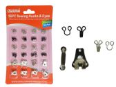 96 Units of 56 Piece Sewing Hooks & Eyes - Sewing Kits/ Notions