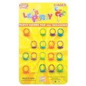96 Units of Party Favor Twenty Piece Flower Rings - Party Favors