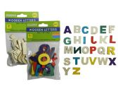 144 Units of 26pc Craft Wooden Letters - Craft Wood Sticks and Dowels