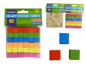 96 Units of 36 Piece Cube Craft Wood - Craft Wood Sticks and Dowels