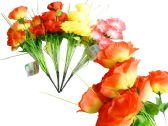 144 Units of 9 Head Artificial Flower Bouquet - Artificial Flowers
