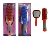 144 Units of 2 Piece Hair Brush+Mirror - Hair Brush