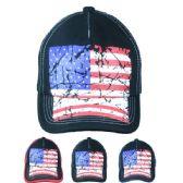 12 Units of American Flag Cap - Baseball Caps/Snap Backs