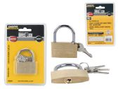 96 Units of 50mm Locks Brass - PADLOCKS/IRON/BRASS/COMBO