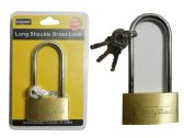 96 Units of 50mm Long Brass Locks Brass - PADLOCKS/IRON/BRASS/COMBO