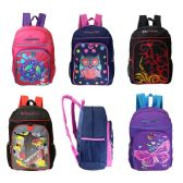 "24 Units of 17"" Wholesale Kids Padded Back Backpacks in 5 Assorted Prints - Backpacks 17"""