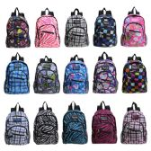 "24 Units of Wholesale 13"" Kids Track Mini Backpack in a Color Assortment - Backpacks"