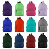"24 Units of 19"" Basic Backpack in 12 Assorted Colors - Backpacks 18"" or Larger"