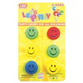 48 Units of Party favor 6 Piece smiley yoyo - Party Favors