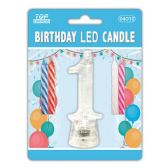 60 Units of #1 Led candle - Birthday Candles