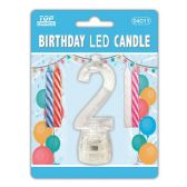 60 Units of #2 Led candle - Birthday Candles