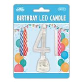 96 Units of Number Four Led Candle - Birthday Candles