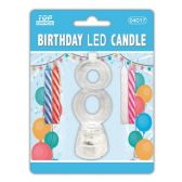 96 Units of Number Eight Led Candle - Birthday Candles
